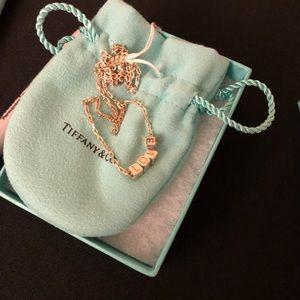 Tiffany & Co. Silver LOVE necklace. Brand New.